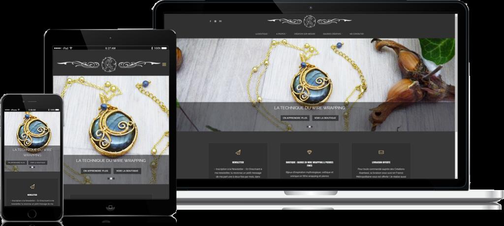 Exemple de site réalisé par l'équipe de Siteweb-Lille : Créations Asantassi