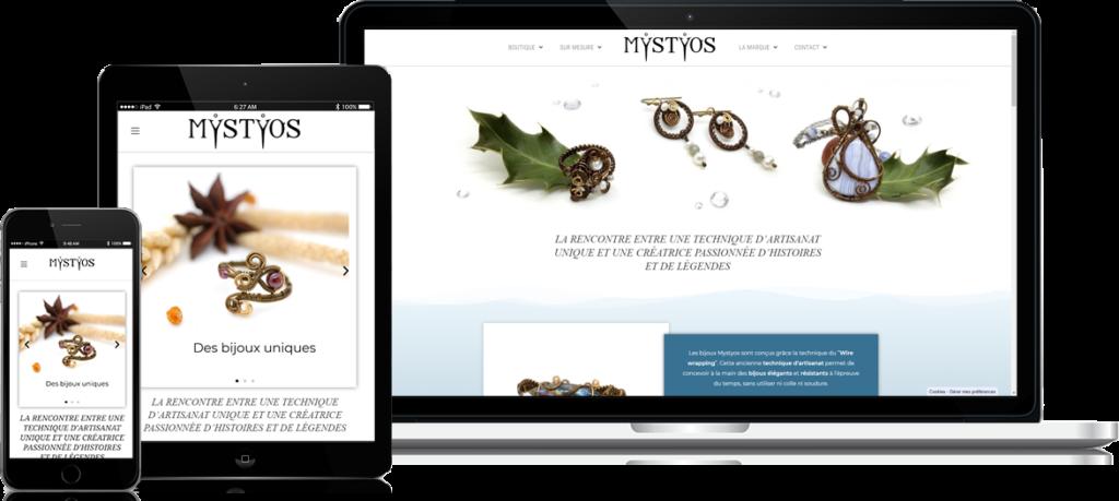 Exemple de site web réalisé par l'équipe de Siteweb-Lille  : MYSTYOS