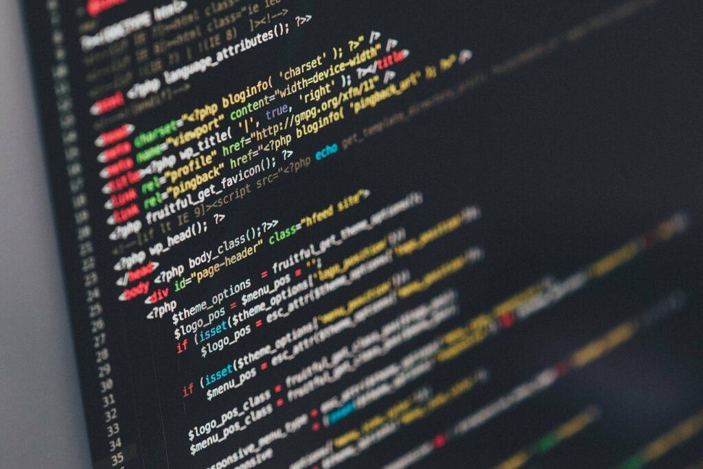 Site web lille : l'importance de la sécurité - écran affichant du code informatique